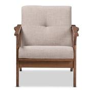 Baxton Studio Bianca Fabric Accent Chair, Light Gray (2633-7548-STPL)