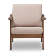 Baxton Studio Venza Fabric Accent Chair, Light Brown (2633-7555-STPL)