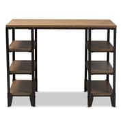 "Baxton Studio Pepe 48"" Wide Computer Desk, Brown (2633-7569-STPL)"