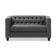 "Baxton Studio Geneva 55"" Long Fabric Loveseat, Gray (2633-7724-STPL)"