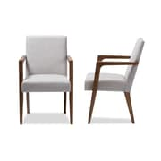 Baxton Studio Andrea Fabric Accent Chairs, Grayish Beige, 2/Pack (2PC-7364-STPL)