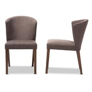 Baxton Studio Cassie Fabric Dining Chairs, Light Brown, 2/Pack (2PC-7559-STPL)