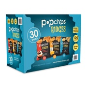popchips® Variety Case of Ridges 100 Calorie 0.8 Oz. Single Serve Bags, 30/CT (SMC94004)
