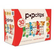 popchips® Variety Case of Core 100 Calorie 0.8 oz. Single Serve Bags, 30/CT (SMC94002)