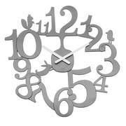 """Koziol Quartz Movement 17.72"""" x 17.52"""" Solid Cool Grey Wall Clock (2327632)"""