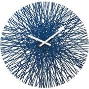 "Koziol Quartz Movement Clock 17.64"" x 17.64"" Deep Velvet Blue SILK Wall Clock (2328585)"
