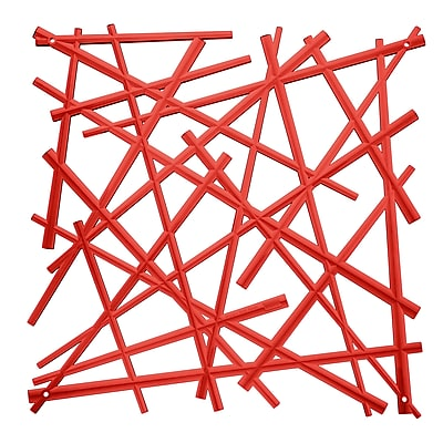 Koziol STIXX Room Divider Ornament Set of 4 transparent red (2037536)