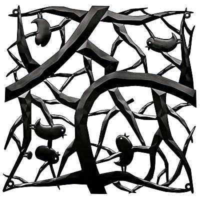 Koziol PIP Room Divider Ornament Set of 4 Solid Black (2042526)