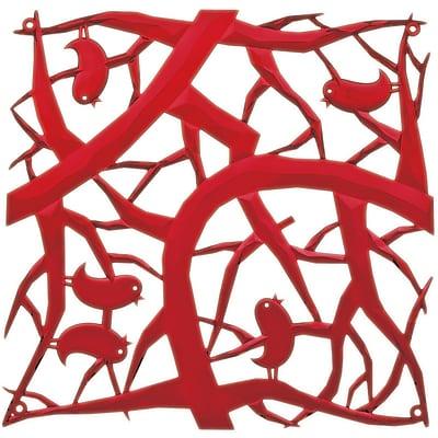 Koziol PIP Room Divider Ornament Set of 4 Transparent Red (2042536)
