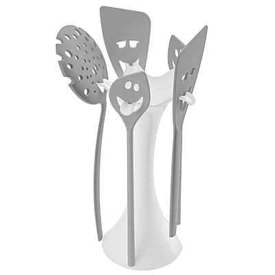 Koziol MEETING POINT Utensil Stand Set White With Cool Gray (3099102)