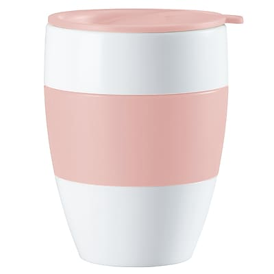 Koziol White with Powder Pink AROMA TO GO 2.0 Insulated Cup with Lid, 13.5 oz (3589486) 24257553