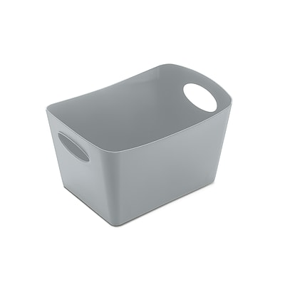 Koziol BOXXX S 1 Liter Storage Bin Solid Cool Grey (5745632)