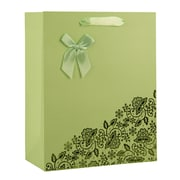 "Vangoddy Texture Paper 9""H x 7 ""W x 4""D Tote Shopping Gift Bags, Natural Kraft, Mint Green, 10/Carton"