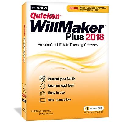 Nolo Quicken WillMaker Plus 2018 for Mac (1 User) [Download]