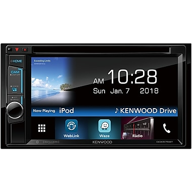 KENWOOD Double-DIN In-Dash DVD Receiver with Bluetooth & SiriusXM Ready, 6.2