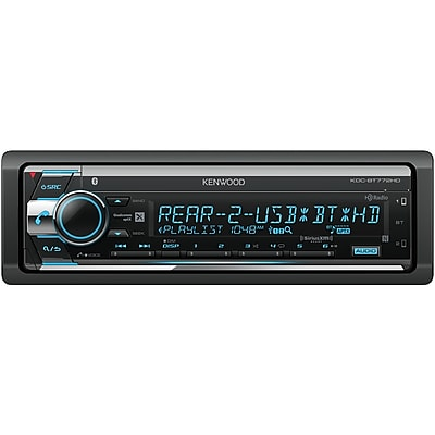 KENWOOD Single-DIN In-Dash AM/FM CD Receiver with Bluetooth, HD Radio & SiriusXM Ready (KDC-BT772HD)