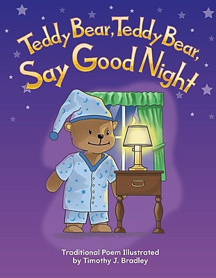Teacher Created Materials Physical Book Teddy Bear, Teddy Bear, Say Good Night Lap Book (12472)