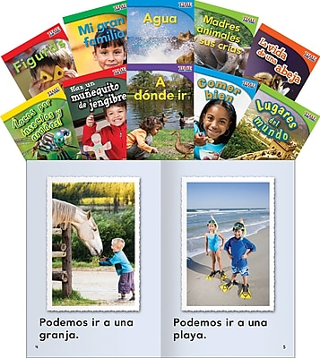 Teacher Created Materials TIME FOR KIDS® Informational Text, Grade 1 Readers Spanish Set 3, 10-Book Set (16100)