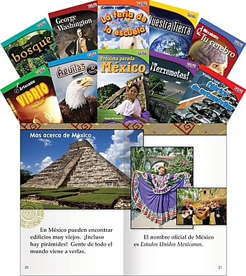 Teacher Created Materials TIME FOR KIDS® Informational Text, Grade 2 Spanish Set 1, 10-Book Set (16102)