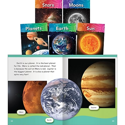 Teacher Created Materials Let's Explore Space!, Set of 5 (17621)