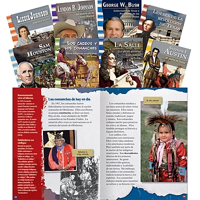 Teacher Created Materials Leaders in Texas History Spanish, 8-Book Set (18396)