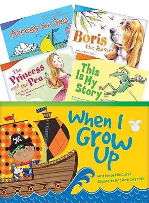 Teacher Created Materials Literary Text, Grade 1 Readers Set 1, 10-Book Set (19659)