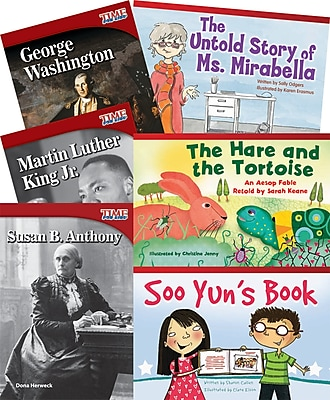 Teacher Created Materials Motivational Figures and Characters 6-Book Set (20209)