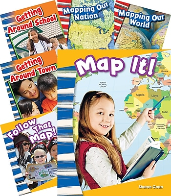 Teacher Created Materials Let's Map It!, 6-Book Set (20598)