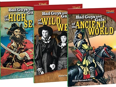 Teacher Created Materials Bad Guys and Gals, 3-Book Bundle (21417)
