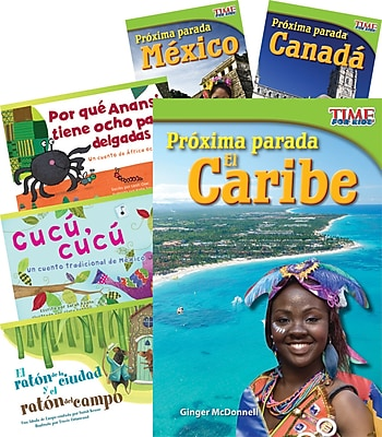 Teacher Created Materials Países y regiones (Countries and Regions) 6-Book Set (22845)