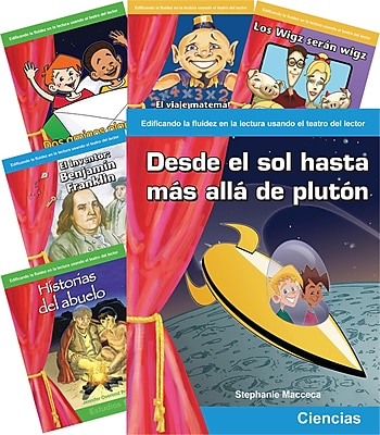 Teacher Created Materials Content Area, Grade 3-4, 6-Book Spanish Set (23264)