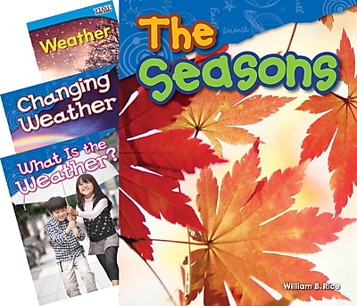 Teacher Created Materials Weather & Seasons, 4-Book Set (23436)