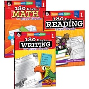 Teacher Created Materials 180 Days of Reading, Writing, and Math for First, Grade 3-Book Set (24590)