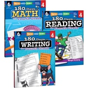 Teacher Created Materials 180 Days of Reading, Writing and Math for Fourth, Grade 3-Book Set (24593)