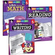 Teacher Created Materials 180 Days of Reading, Writing and Math for Fifth, Grade 3-Book Set (24594)