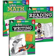 Teacher Created Materials 180 Days of Reading, Writing and Math for Sixth, Grade 3-Book Set (24595)