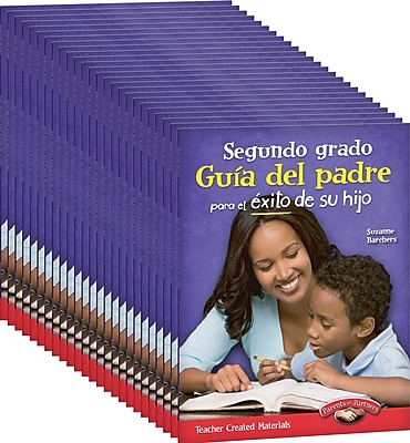 Teacher Created Materials Second, Grade Spanish Parent Guide for Your Child's Success, 25-Book Set (24696)