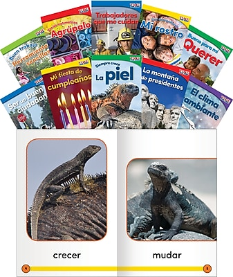 Teacher Created Materials TIME For Kids Informational Text, Grade K Readers Set 3, 10-Book Spanish Set (25856)