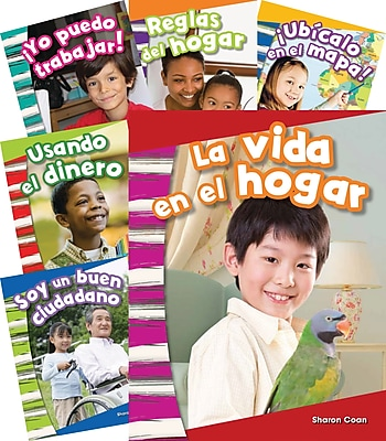 Teacher Created Materials Social Studies Kindergarten, 10-Book Spanish Set (25866)
