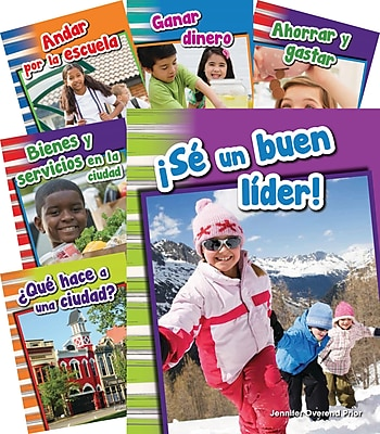 Teacher Created Materials Social Studies, Grade 1, 10-Book Spanish Set (25867)