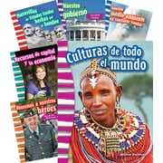 Teacher Created Materials Social Studies, Grade 3, 10-Book Spanish Set (25869)