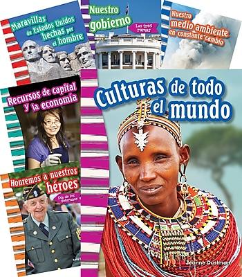 Teacher Created Materials Social Studies, Grade 3, 10-Book Spanish Set (25869)