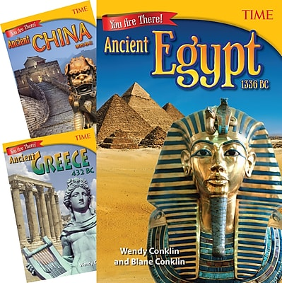 Teacher Created Materials TIME®, You Are There! Ancient Times, 3-Book Set (25918)