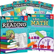 Teacher Created Materials 180 Days of Second, Grade Practice, 6-Book Set (29275)