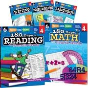 Teacher Created Materials 180 Days of Fourth, Grade Practice, 5-Book Set (29277)
