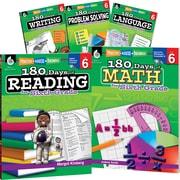 Teacher Created Materials 180 Days of Sixth, Grade Practice, 5-Book Set (29279)