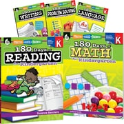 Teacher Created Materials 180 Days of Kindergarten Practice, 6-Book Set (29280)