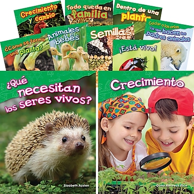 Teacher Created Materials Let's Explore Life Science, Grades K-1 Spanish, 10-Book Set (29602)