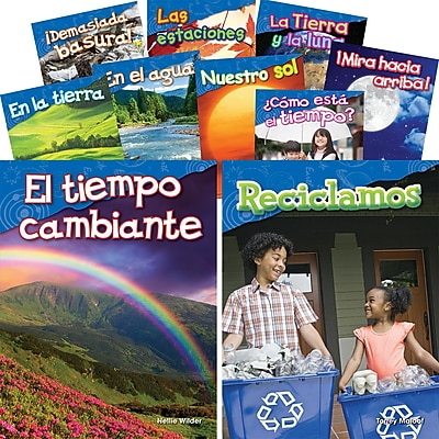 Teacher Created Materials Let's Explore Earth & Space Science, Grades K-1 Spanish, 10-Book Set (29603)