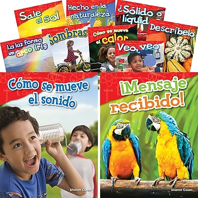 Teacher Created Materials Let's Explore Physical Science, Grades K-1 Spanish, 10-Book Set (29604)